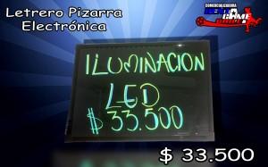 letrero pizarra electronica /oferta de rentagame $ 33.500
