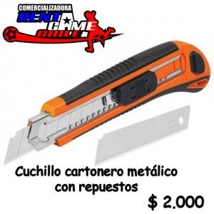 cuchillo cartonero metálico con repuestos $ 2.000