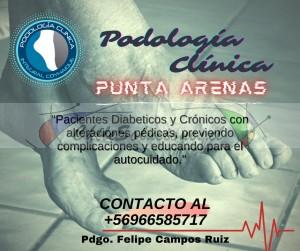podologo clinico, podologo a domicilio, podologo en punta arenas, uña encarnada, pies, callosidades