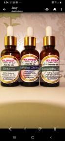 waiwen (viento del sur) aceites puros prensados en frío de: almendra dulce, sésamo negro y avellana