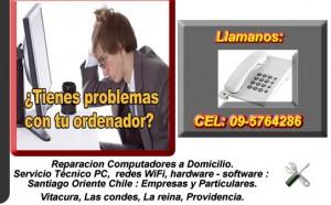 reparacion computadores a domicilio. servicio técnico pc, redes wifi, web