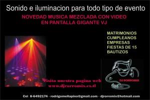 musica matrimonio dj ,vj, karaoke., audio e iluminacion para todo tipo de e
