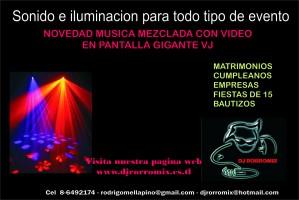 musica matrimonios, musica envasada videos, iluminacion - djrorromix .