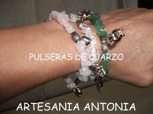 pulseras de cuarzo - artesania antonia -