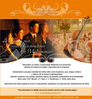 música clásica en vivo para matrimonios, casablanca