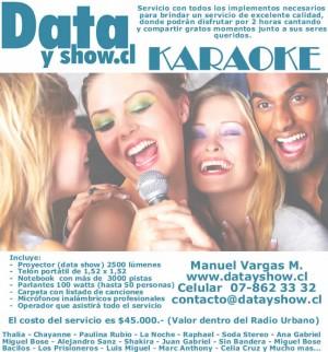 arriendo karaoke todo santiago www.datayshow.cl