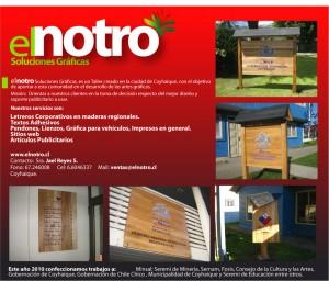 letreros en maderas nativas. coyhaique