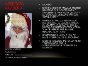 creditazo  navideÑo con o sin dicom, unico legal del mercado