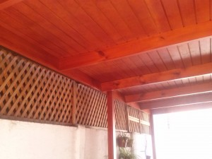 cobertizos, pergolas de madera - horno chileno - muebles a medida