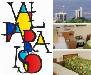 valparaiso, arriendo diario casa 1 dormitorio, independiente, amoblada