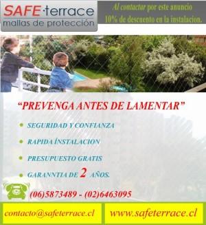mallas de proteccion, mallas de seguridad safeterrace