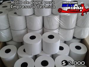 rollo de papel impresora termica/precio: $ 2.000 pesos