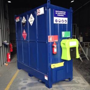 almacenamiento y contención de derrames para sustancias y residuos