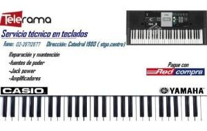 servicios teclados electronicos , casio , yamaha , santiago centro
