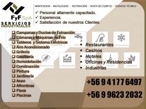 fyf servicios industriales spa: mantención de maquinaria industrial