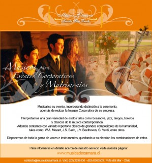 música en vivo de todos estilos para tu matrimonio o evento