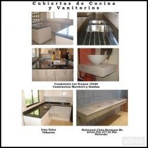 Cubiertas de cocina en granito vanitorios etc marmol y for Trabajos en granito para cocina