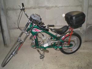 vendo  bicicleta chopera con motor nueva