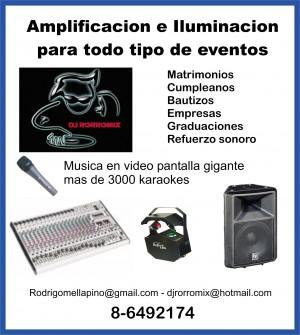 musica para eventos audio iluminación eventos música dj matrimonios karaoke