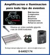 Música Envasada,videos en pantalla ,Iluminación, Amplificación, Audio. Soni